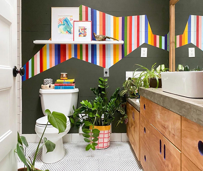 Paint Your Own Feature Wall and Add a POP of Color!