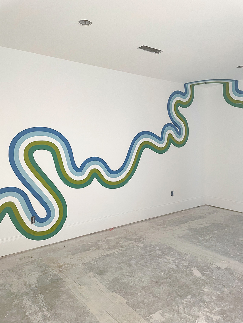 Stream, a mural by Racheal Jackson of Banyan Bridges