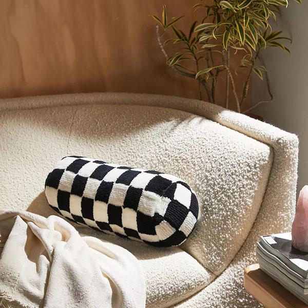Checkerd Bolster Pillow